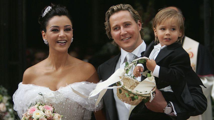 Verona und Franjo Pooth bei ihrer Hochzeit mit Sohn San Diego