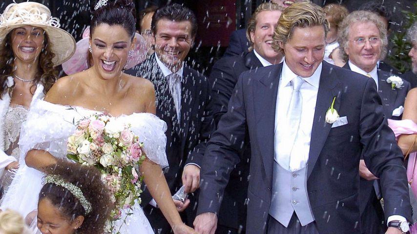 Verona und Franjo Pooth bei ihrer Hochzeit, 2005