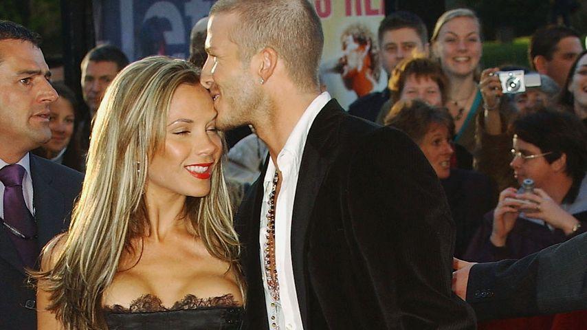 Victoria und David Beckham bei einer Party 2004