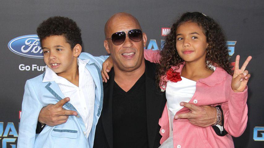 Family-Power! Vin Diesel albert mit Kids auf dem Red Carpet