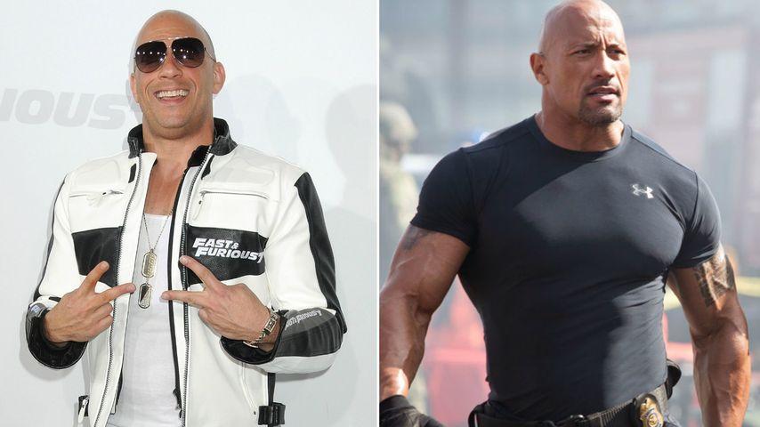 """""""Fast & Furious""""-Zoff: Jetzt schleimt Vin Diesel bei Dwayne?"""