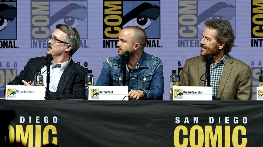 Vince Gilligan, Aaron Paul und Bryan Cranston bei der Comic-Con International 2018 in San Diego