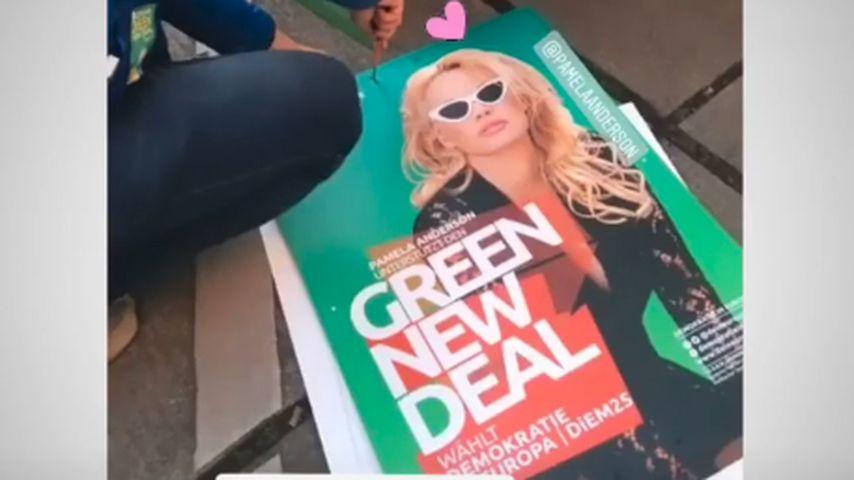 Wahlplakate mit Pamela Anderson