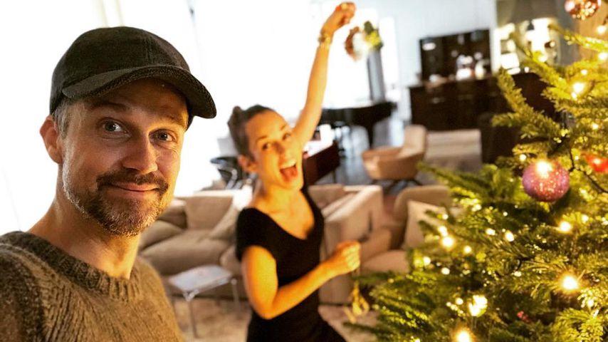 Wayne und Annemarie Carpendale an Weihnachten 2018 in Berlin