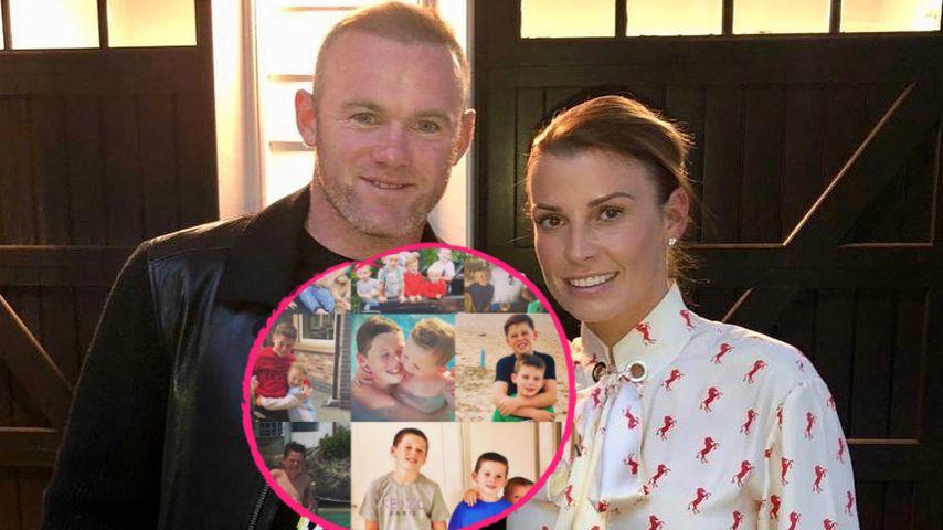 Rührend: Coleen und Wayne Rooney gratulieren ihrem Sohn (11)