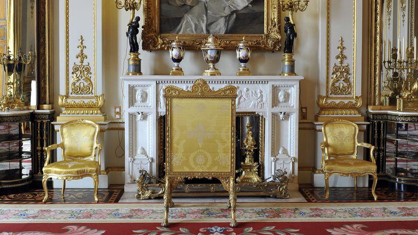 Der White Drawing Room im Buckingham Palace