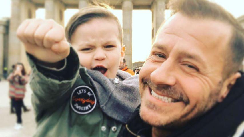 Willi Herren mit seinem Enkel Emilio