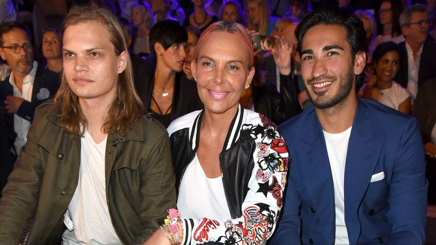 Wilson Gonzalez Ochsenknecht, Natascha Ochsenknecht, Umut Kekill bei der Berlin Fashion Week 2016