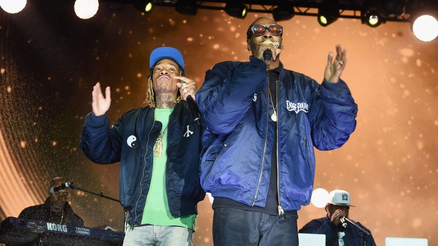 Wiz Khalifa und Snoop Dogg bei einem Konzert in New York im Mai 2016