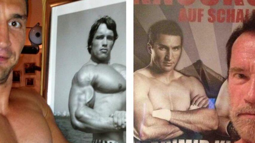 Wladimir Klitschko & Arnie imitieren sich!
