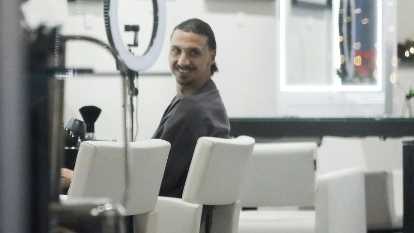 Zlatan Ibrahimovic beim Friseur