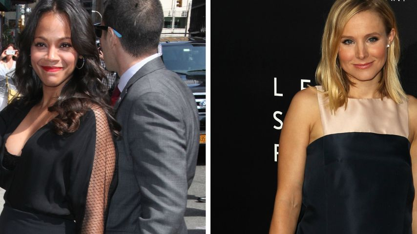 Zoe Saldana & Kristen Bell sind schwanger UND sexy
