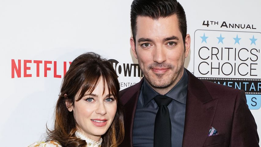 Zooey Deschanel und Jonathan Scott 2019 in New York