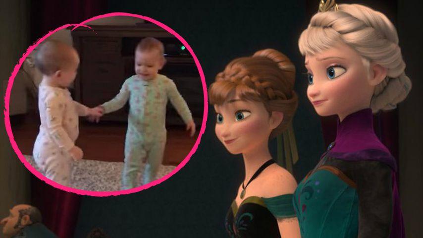 OMG! Diese supersüßen Mini-Twins spielen Frozen-Szenen nach