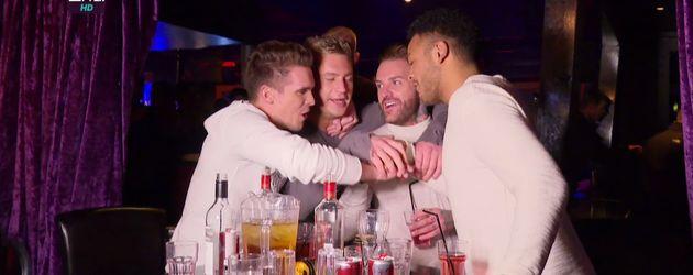 """Gary Beadle, Scott Timlin, Aaron Chalmers und Nathan Henry, Stars der Show """"Geordie Shore"""""""