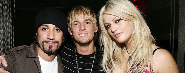 AJ McLean, Aaron Carter und dessen Schwester Leslie 2006 auf einer Geburtstagsparty in Hollywood