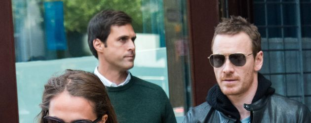 Alicia Vikander und Michael Fassbender in New York