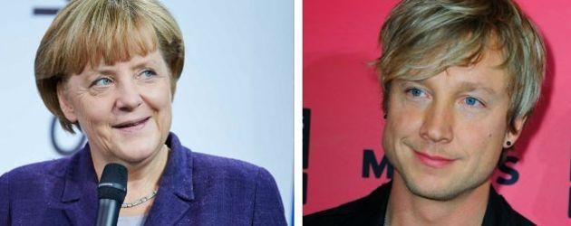 Angela Merkel und Samu Haber
