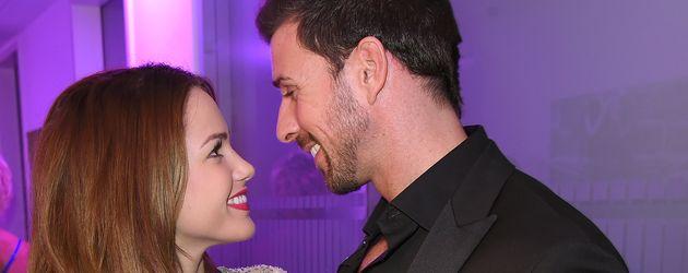 Angelina Heger und Leonard Freier im Oktober 2016 bei einer Veranstaltung in Düsseldorf