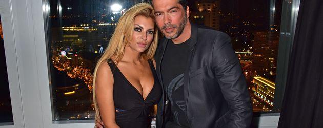 Aurelio Savina mit Lisa Freidinger in der Puro Sky Lounge