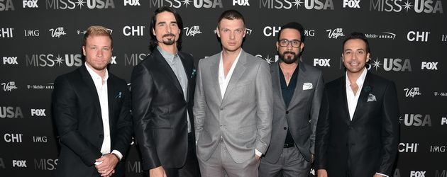 Backstreet Boys: Brian Littrell, Kevin Richardson, Nick Carter, A.J. McLean and Howie Dorough (v.l.)