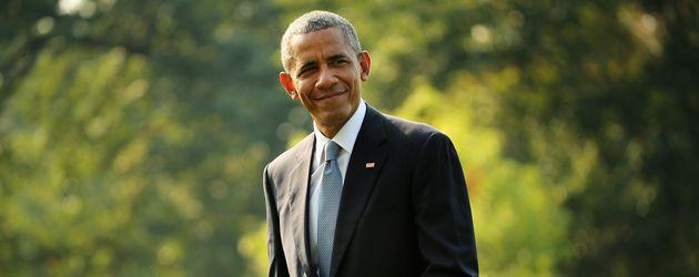 Barack Obama vor dem Weißen Haus