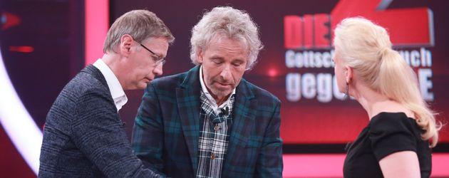Thomas Gottschalk, Günther Jauch und Barbara Schöneberger