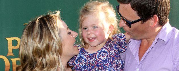 Beverley Mitchell, Tochter Kenzie und Ehemann Michael Cameron