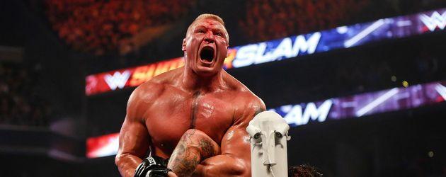 Bock Lesnar und der Undertaker im Barclays Center in New York