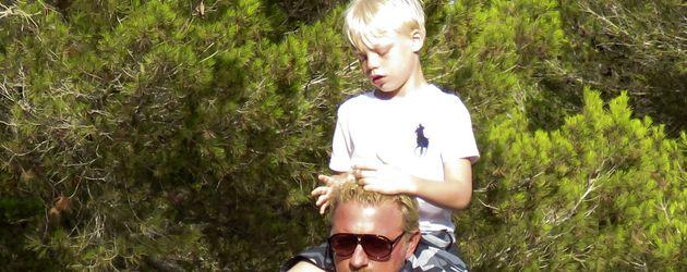 Boris Becker und sein Sohn Amadeus im Urlaub auf Ibiza