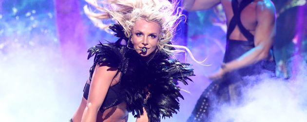 Britney Spears auf der Bühne des iHeartRadio Music Festivals