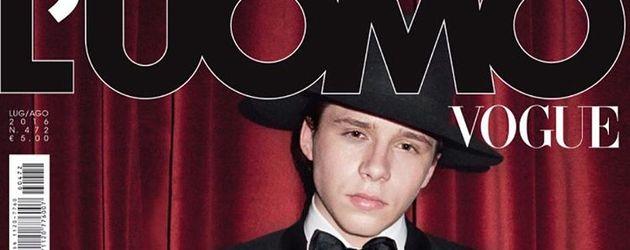 Brooklyn Beckham auf der italienischen Männer-Vogue