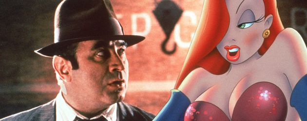 Bob Hoskins mit Cartoon-Jessica Rabbit