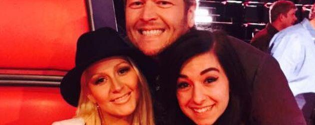 "Christina Grimmie mit Christina Aguilera und Blake Shelton bei ""The Voice"""
