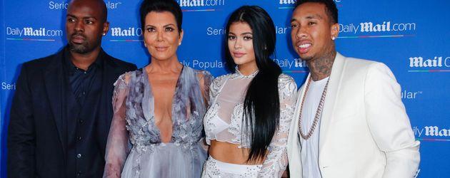 Corey Gamble, Kris Jenner, Kylie Jenner und Tyga bei der MailOnline Party in Cannes 2015