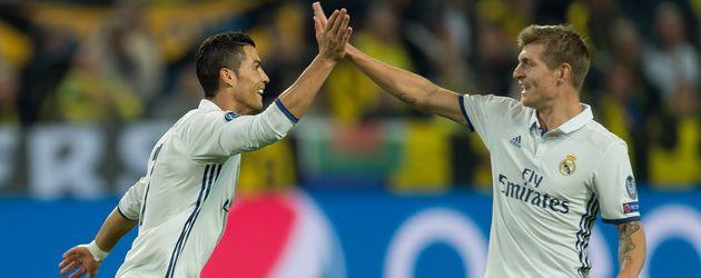 Real-Kicker Cristiano Ronaldo und Toni Kroos