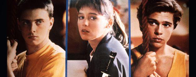 """""""Cutting Class"""": Donovan Leitch, Jill Schoelen und Brad Pitt (1989)"""