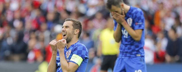 Dario Srna bei 1. Spiel der Kroaten bei der EM 2016