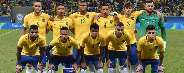Das brasilianische Fußball-Team bei Olympia 2016