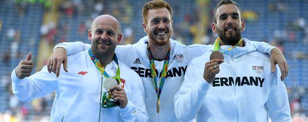 Piotr Malachowski, Christoph Harting und Daniel Jasinski