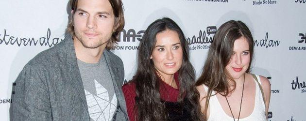 Ashton Kutcher, Demi Moore und Scout LaRue Willis