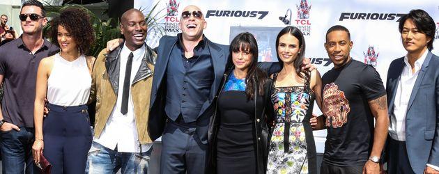 Vin Diesel, Ludacris, Tyrese Gibson und Luke Evans