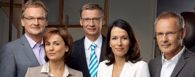 Günther Jauch, Reinhold Beckmann, Sandra Maischberger, Anne Will und Frank Plasberg