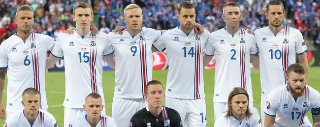 Die isländische Nationalmannschaft bei der EM 2016