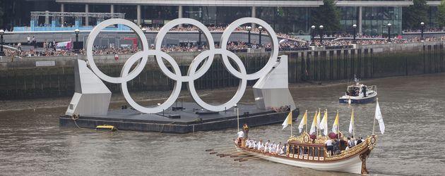Die Olympischen Ringe in London