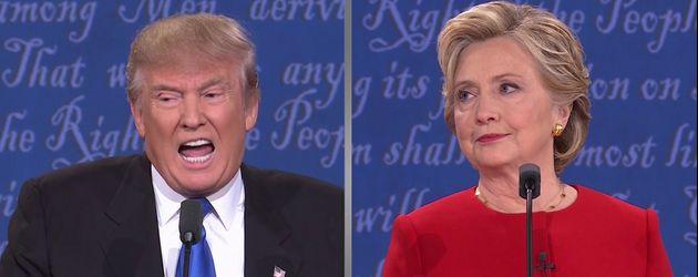 Donald Trump und Hillary Clinton beim Präsidentschaftsduell