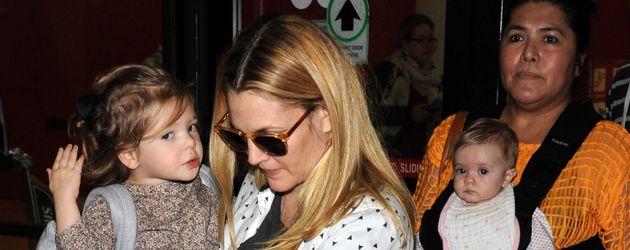 Drew Barrymore mit ihren Kindern Olive und Frankie Barrymore Kopelman