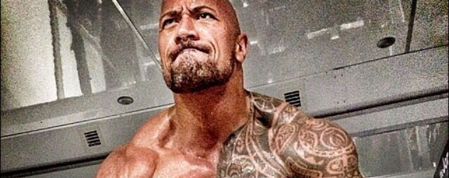 Dwayne Johnson beim Training