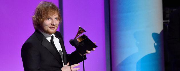 Ed Sheeran im Februar 2016 bei der Grammy-Verleihung in Los Angeles