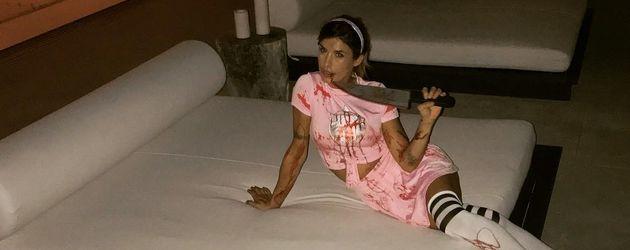 Elisabetta Canalis in ihrem Halloweenkostüm